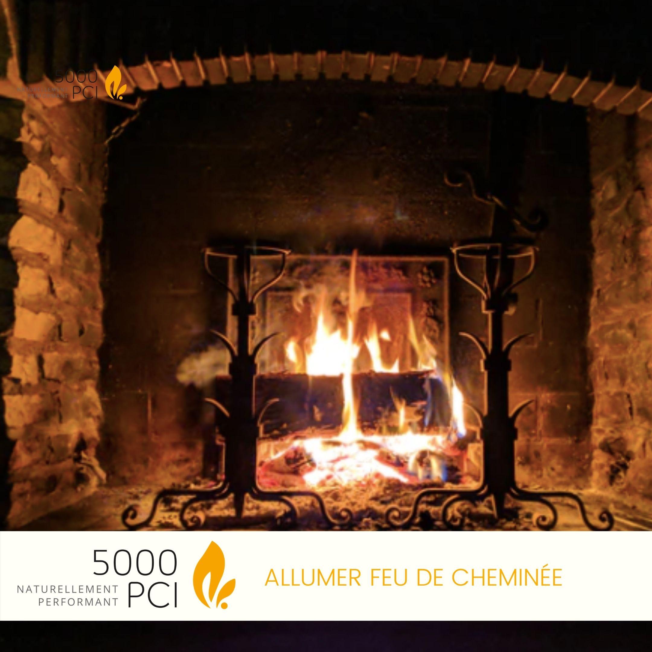 Allumer, feu, cheminée, bois, chauffage